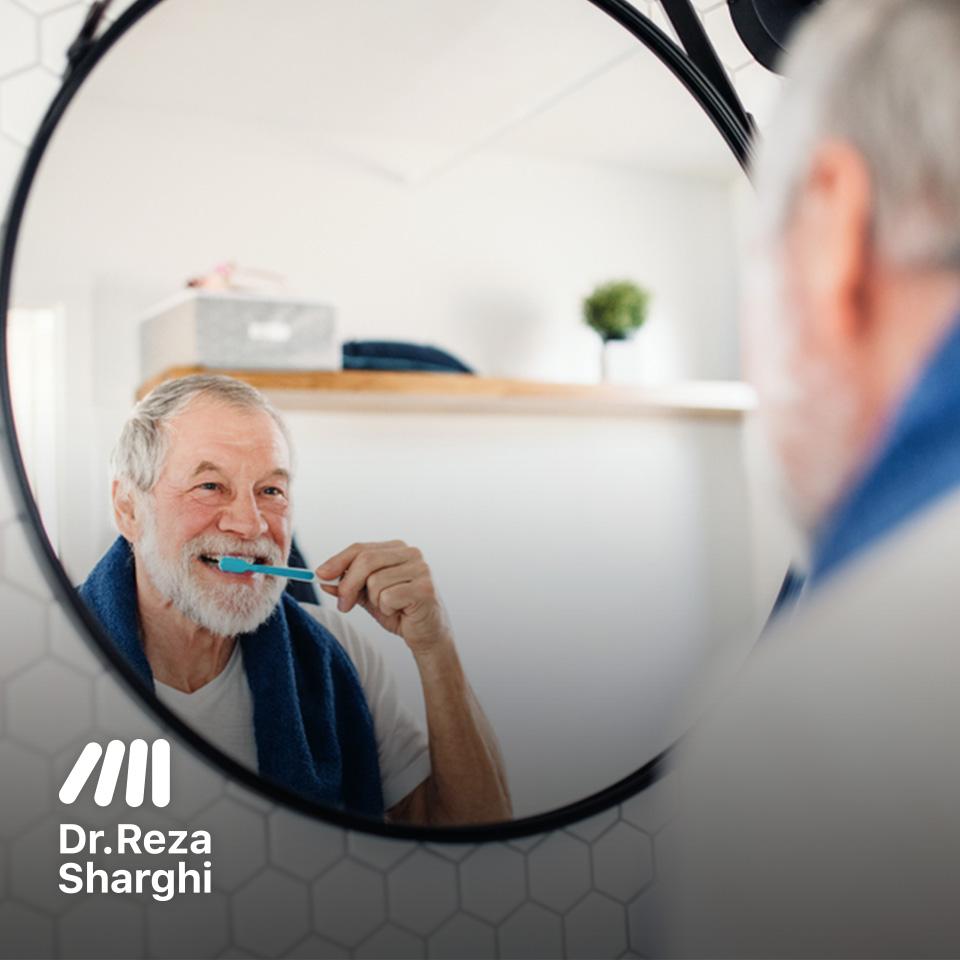 بهداشت دندان و دهان در افراد سن بالا
